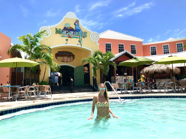 Take a dip in the pool at Margaritaville on your way back to the ship