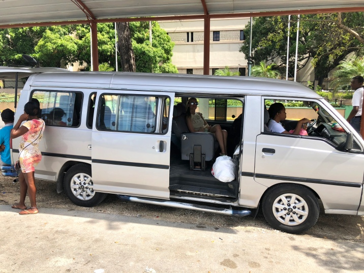 First time on a guagua in the Dominican Republic!